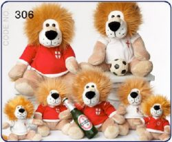 8″ PLUSH ENGLAND LION 2 ASSTD