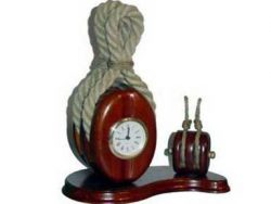 WOODEN ROPE BOAT CLOCK