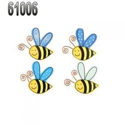 WOODEN BEE MAGNET