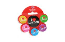 I LOVE LONDON BADGE SET