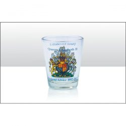 DIAMOND JUBILEE COA SHOT GLASS