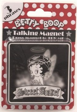 BETTY BOOP TALKING MAGNET ST ANGEL