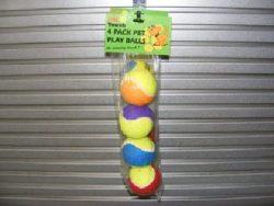 4PK PET PLAY BALLS