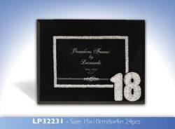 BLK GLASS DIAMANTE FRAME 4X6 18th