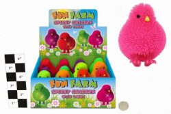 SPIKEY CHICKEN WITH LIGHT (6 COLOURS) IN DISPLAY BOX