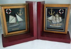 CASW32581 BOAT BOOKENDS