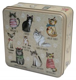 CATS IN JUMPERS TIN 160g ASSTD BISCUITS