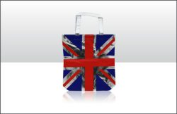 Non-Woven Shopping Bags – Red and Blue Union Jack
