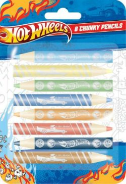 Hotwheel 8pkchunky Colouring Pencils