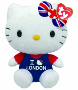 TY HELLO KITTY UNION JACK I LOVE LONDON