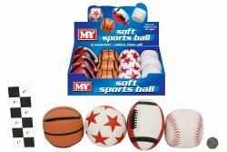 """MINI FUN PVC BALLS 12 IN DISPLAY BOX – 4 ASSORTED """"MY"""""""