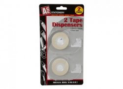 2PC 18MMX30YDS CLEAR TAPE IN CLEAR DISPENSER