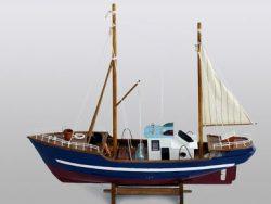 WOODEN FISHING BOAT 61CM