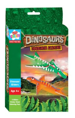 DINOSAURS COLOUR YOUR OWN GLIDERS