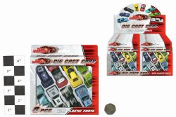 8pc DIE CAST FREE WHEEL CARS IN WINDOW BOX