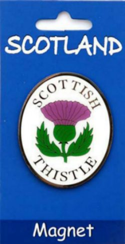 THISTLE BRASS MAGNET