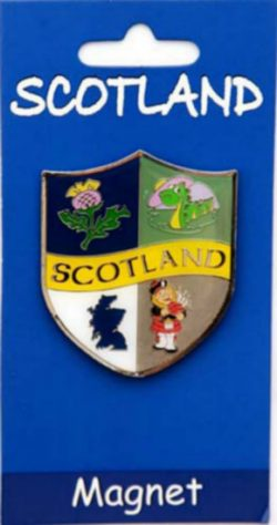 SCOTTISH CREST BRASS MAGNET