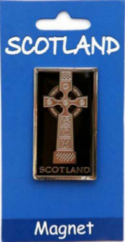 CELTIC CROSS BRASS MAGNET