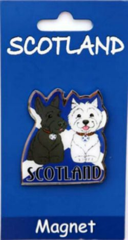 SCOTTIE DOG BRASS MAGNETS