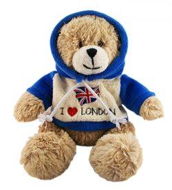 MEDIUM I LOVE LONDON TEDDY 16cm
