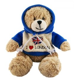 LARGE I LOVE LONDON TEDDY 25cm