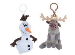 FROZEN PLUSH BAG CLIPS SVEN/OLAF