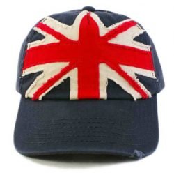 UNION JACK APPLIQUE CAP