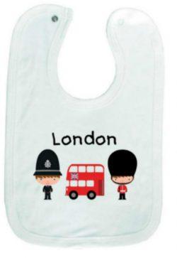 London Guard/Police/Bus Baby Bib