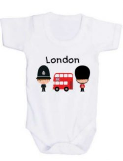 London Guard/Police/Bus Baby Grow 12-18