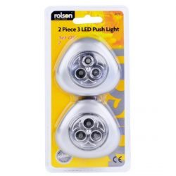 2pc 3 LED Push Light