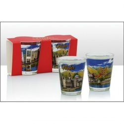 WALES PHOTO TWIN PACK SHOTGLASS