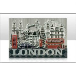 LONDON PHOTO MONTAGE FOIL STAMPED MAGNET