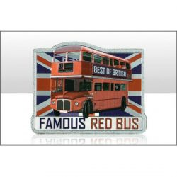 RED BUS FOIL STAMP MAGNET