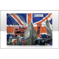 CAPITAL LONDON FOIL STAMPED MAGNET