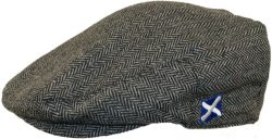 FLAT CAP GREY HERRINGBONE
