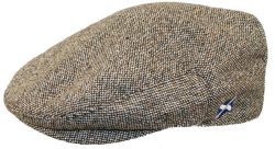 FLAT CAP BROWN HERRINGBONE