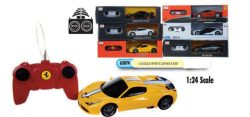 1:24 SCALE R/C SPORTS CARS – 6 ASSTD