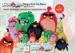 ANGRY BIRDS MOVIE SM PLUSH 5 ASS