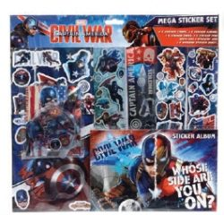 MARVEL CAPTAIN AMERICA STICKER SET