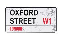 TIN STREET NAME LARGE – OXFORD STREET