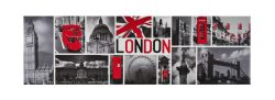 BLK & RED LONDON PHOTOS MAGNET