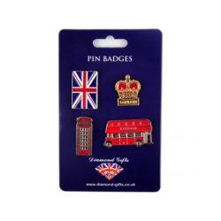 LONDON PIN BADGE SET