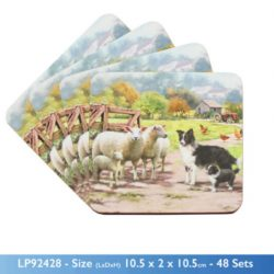 COLLIE & SHEEP COASTER SET