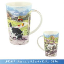 COLLIE & SHEEP MUG LATTE
