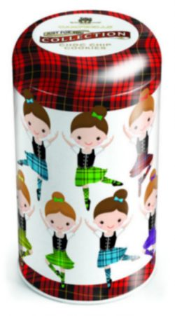 TBD Highland Dance Tin (choc chip cookies) 175g