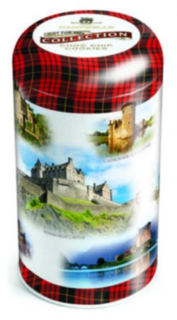 DISC Scot Castles Tin (chocolate chip cookies) 175g