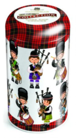 Tartan Pipers Tin (choc chip cookies) 175g
