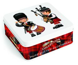 Square Piper & Drummer Tin (shortbread fingers) 90g