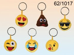 PLUSH EMOTICON KEYRING 6 ASSTD