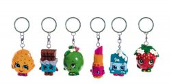 SHOPKINS 3D RESIN KEY RINGS 6 ASSTD